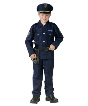 Police Man Boys Costume
