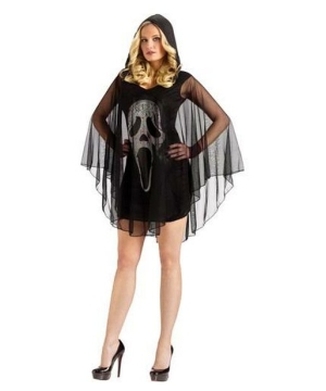 Poncho Ghost Face Women Costume
