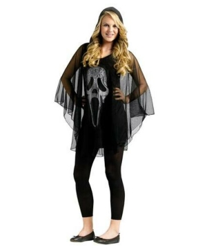 Poncho Ghost Face Teen Costume