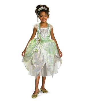 Princess Tiana Girls Costume deluxe