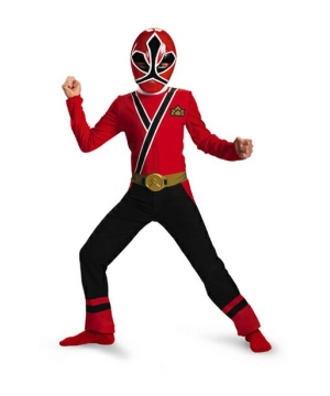 Samurai Red Ranger Kids Costume