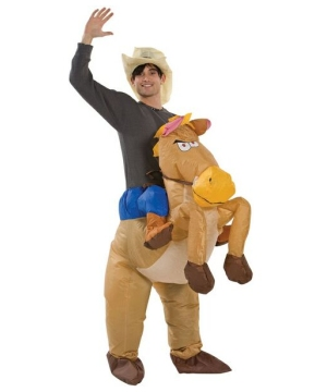 Inflatable Riding On Horse Adult Costume