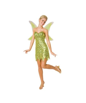 Sequin Tinkerbell Adult Costume deluxe
