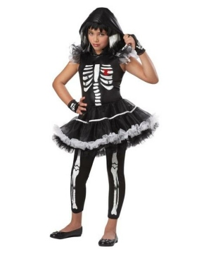 Skeleton Ballerina Girls Costume