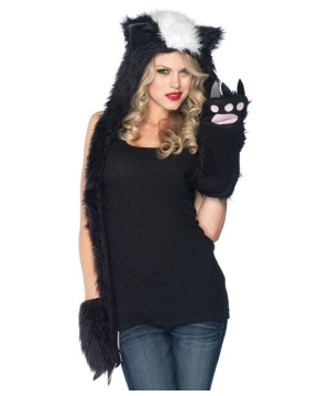 Skunk Hood Accessory Women Costume