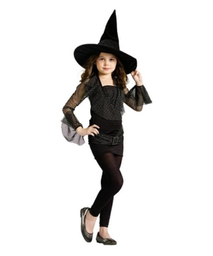 Black Sparkle Witch Kids Costume