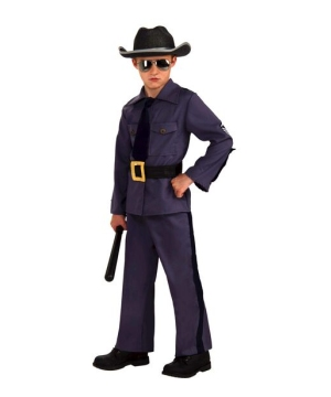 State Trooper Kids Costume