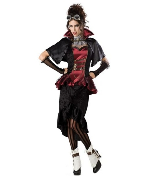 Steampunk Victorian Vampiress Women Costume