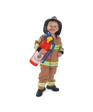 Tan Firefighter Kids Costume