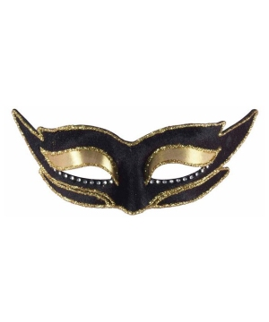 Modern Black Masquerade Adult Mask