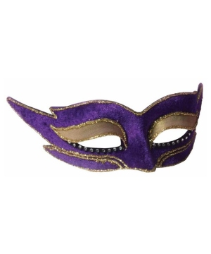 Modern Purple Masquerade Adult Mask