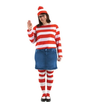 Wheres Waldo Wenda Costume - plus size Costume