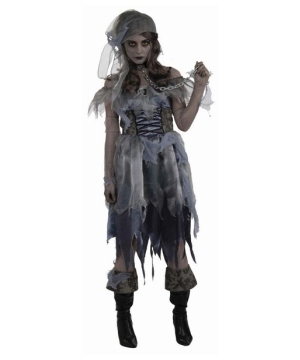 Zombie Girl Pirate Adult Costume