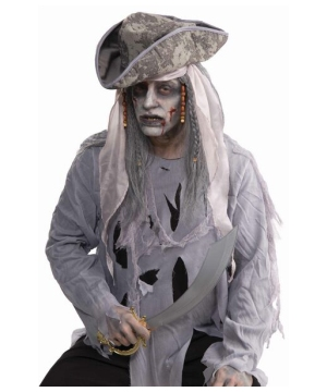 Zombie Pirate Adult Wig