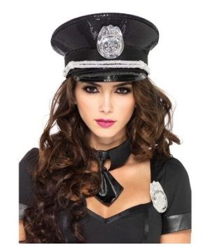Adult Sequin Police Hat