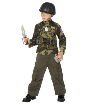 Army Soldier Costume Kit - Kids Costume