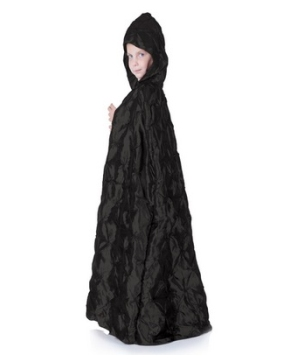 Black Cape Girl Costume
