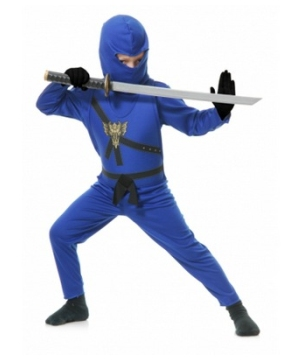 Blue Ninja Kids Costume