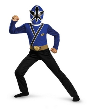 Samurai Blue Ranger Kids Costume