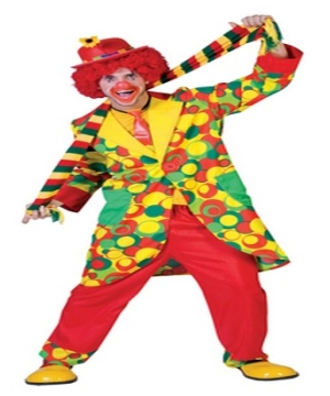 Bubbles Clown Adult Costume
