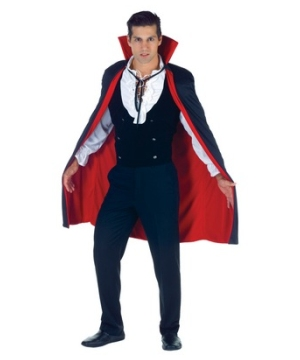 Black and Red Vampire Adult Cape
