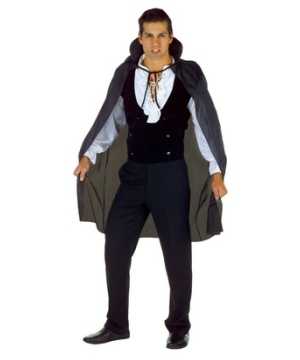 Black Taffeta Adult Cape