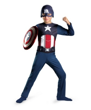 The Avengers Captain America Kids Costume