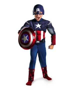 The Avengers Captain America Muscle Kids Costume