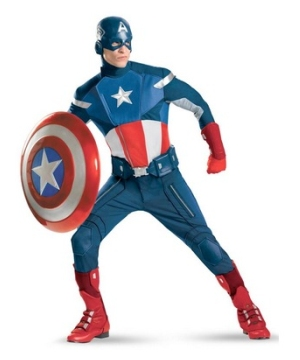 The Avengers Captain America Men Costume deluxe