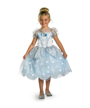 Cinderella Light up Disney Girl Costume deluxe