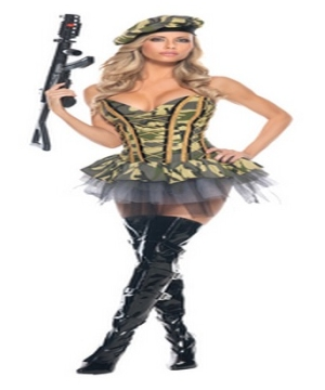 Sexy Commando Womens Costume