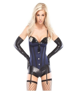 Cop Bustier Adult Costume