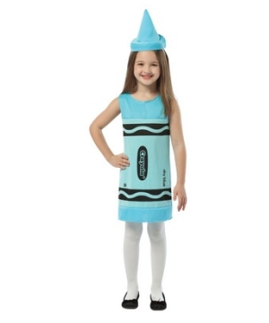 Crayola Sky Blue Tank Dress Girl Costume