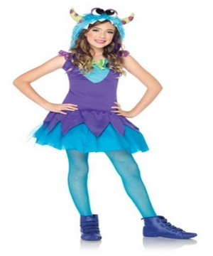 Blue Cross Eyed Carlie Monster Kids Costume