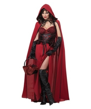 Dark Red Riding Hood Women Costume