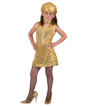 Gold Disco Girls Costume