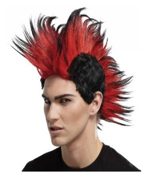 Double Mohawk Adult Wig