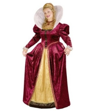 Elizabethan Queen Adult Costume plus size
