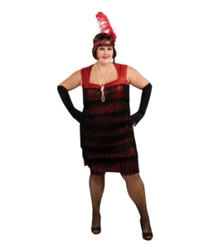 Flapper plus size Adult Costume