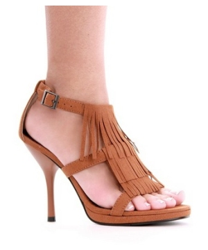 Fringe High Heel Sandals Adult Shoes