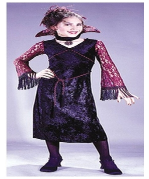 Gothic Lace Vampiress Kids Costume
