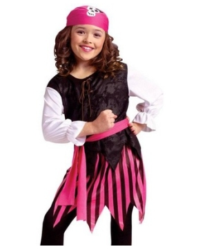Caribbean Pirate Costume Girl Costume