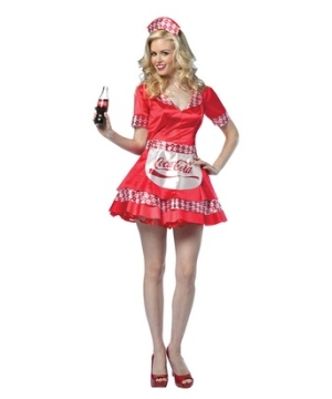 Coca Cola Soda Girl Adult Costume