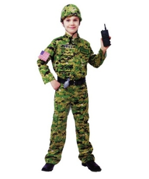 Army Infantry Boys Costume