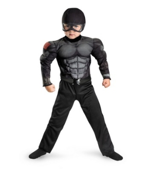 Gi Joe Retaliation Snake Eyes Muscle Kids Costume