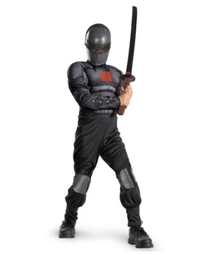 Gi Joe Retaliation Snake Eyes Muscle Light up Boys Costume deluxe