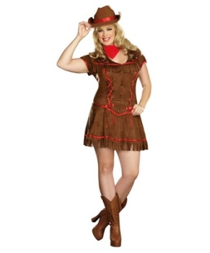 Giddy up Cowgirl Adult plus size Costume