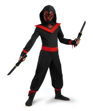 Glow Away Neon Ninja Boys Costume