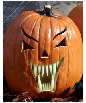 Glow in the Dark Fang Pumpkin Teeth