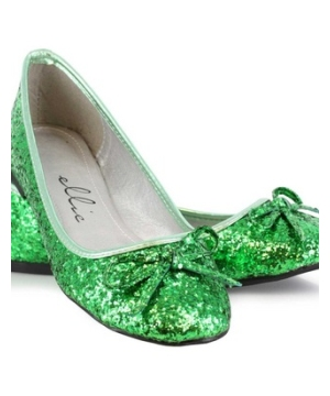 Green Glitter Adult Shoes